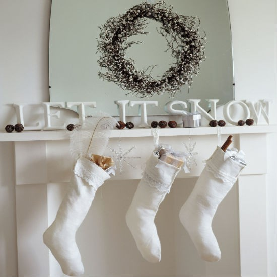 Spell it out | Christmas mantelpiece | Christmas decorating ideas | PHOTO GALLERY | Ideal Home | Housetohome