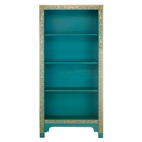 Chinese Collection Painted Bookcase In Blue From John