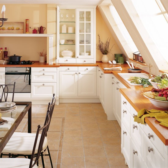 Country-style L-shaped Kitchen