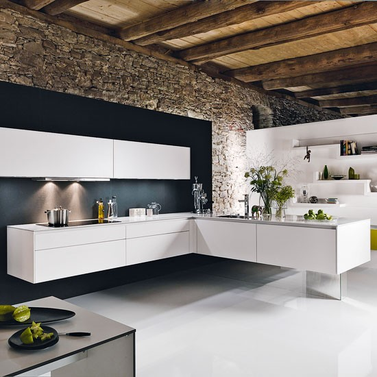 Wall-mounted L-shaped kitchen | Kitchen design ideas | PHOTO GALLERY | Beautiful Kitchens | Housetohome.co.uk