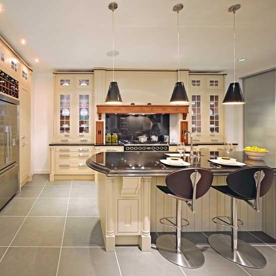 Fresh neutral kitchen traditional kitchens housetohome for Neutral kitchen ideas