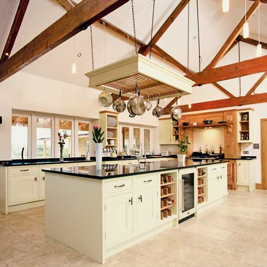 Large farmhouse style kitchen traditional kitchens for Traditional farmhouse kitchens