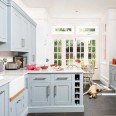 Take a tour around a traditional painted kitchen with vibrant accents