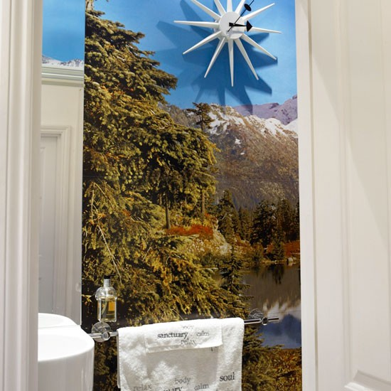 Cloakroom With Wall Mural Cloakroom Ideas Housetohome