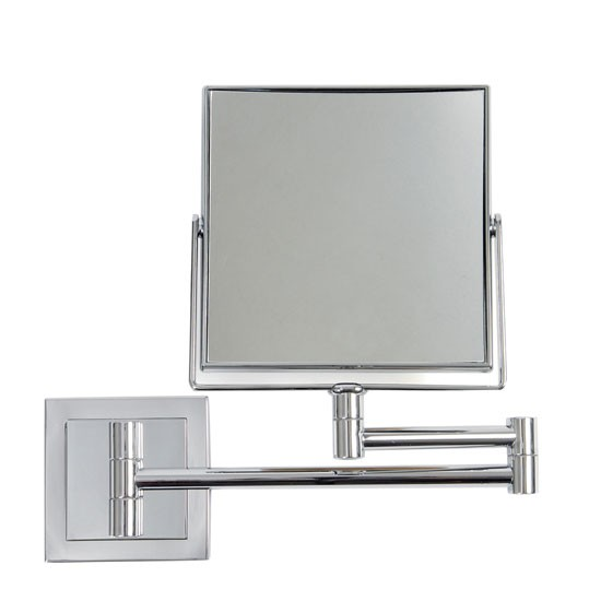 Square extendable mirror from dwell bathroom mirrors for Wall mounted extendable mirror bathroom