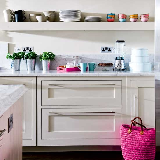 Open Shelving Be Inspired By An Elegant Painted Kitchen