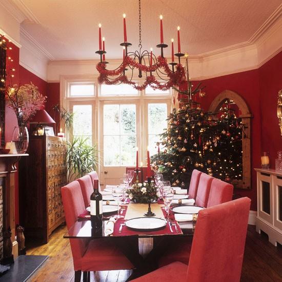 Traditional Christmas Dining Room Christmas Decorating