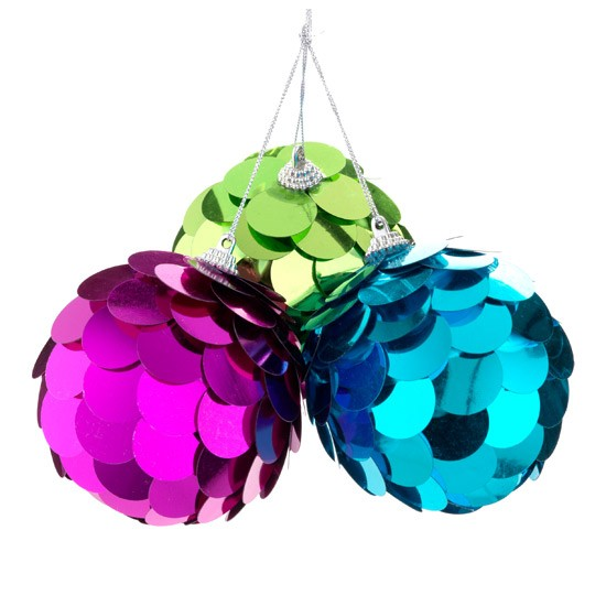 Brights Giant Sequin Baubles By Sainsbury 39 S Gold And