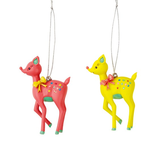 Santa baby small deer decorations by b q gold and jewels for B q christmas decorations