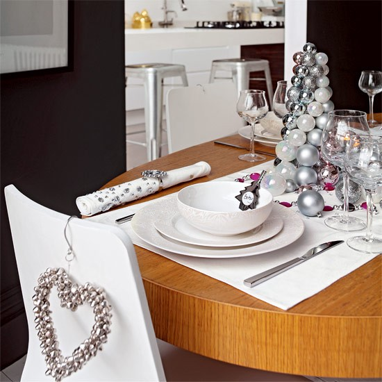 Silver accessories | dining room | PHOTO GALLERY | Style at Home | Housetohome