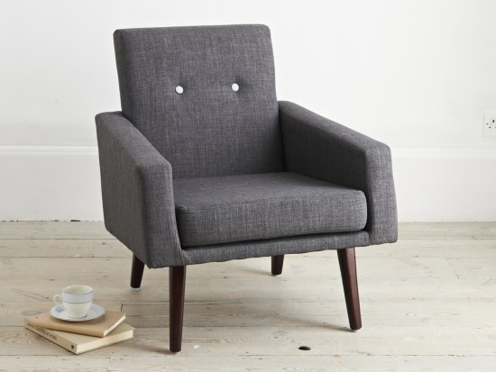 Nottingham armchair with a 50s feel.