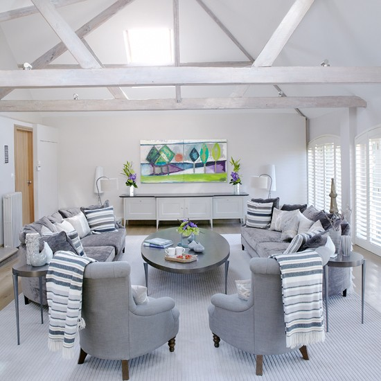 White and grey living room housetohomecouk : White and Grey Modern Living Room Country Homes and Interiors Housetohome from www.housetohome.co.uk size 550 x 550 jpeg 73kB