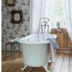 Vintage chic floral bathroom 