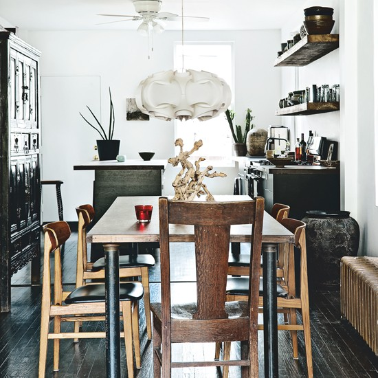 Dining room | Be inspired by a rustic mid-century Chicago cottage | House Tours | PHOTO GALLERY | Livingetc | Housetohome