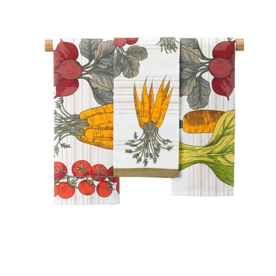 garden vegetable tea towel from marks and spencer. Black Bedroom Furniture Sets. Home Design Ideas