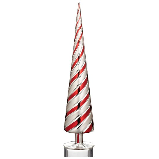 Holiday swirl glass table top tree from john lewis