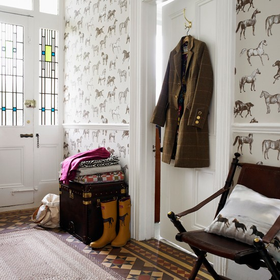 Equestrian themed hallway | Decorating ideas | Country Homes & Interiors | Housetohome