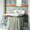 Homespun-style bathroom