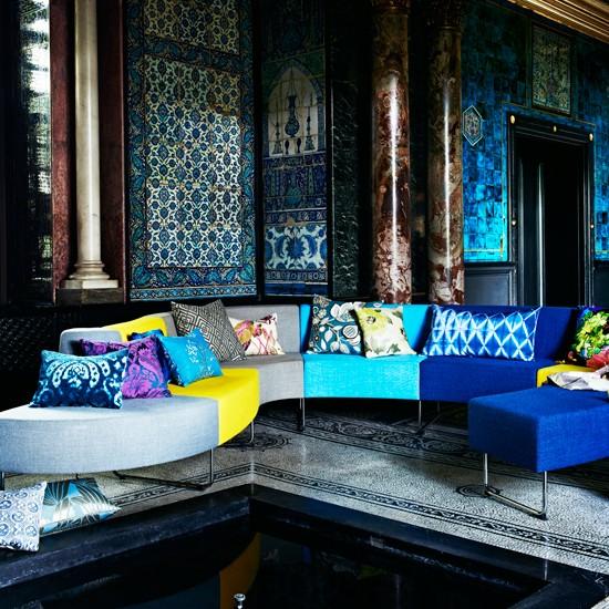Bold modern living room for Bold living room ideas
