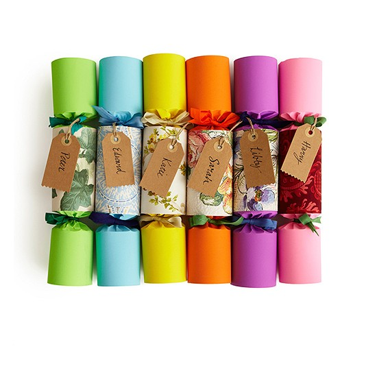 Rainbow Wallpaper Christmas Crackers from Sarah Moore Vintage | Christmas crackers | Christmas table decorations | PHOTO GALLERY | housetohome