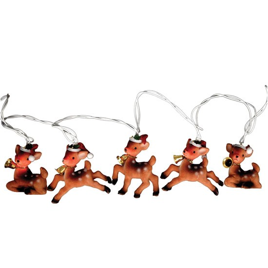 Vintage Reindeer string Christmas lights from Party Pieces Indoor Christmas lights ...
