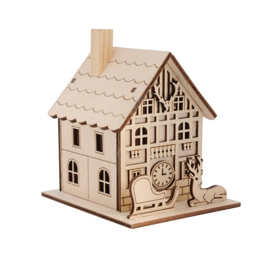 Mini Wooden House Light From Heals Country Christmas