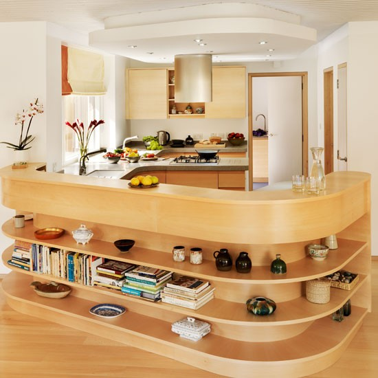 Kitchen Peninsula Ideas: An Eco-friendly Beech Kitchen