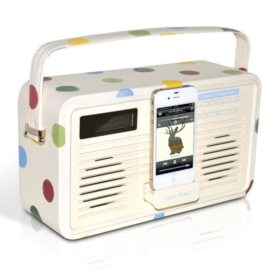 Emma Bridgewater Polka Dot DAB+/FM radio from View Quest | DAB radios | PHOTO GALLERY | Living room | Ideal Home | Housetohome