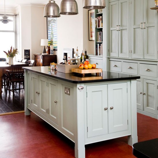 Black Kitchen Island Uk: Traditional Island