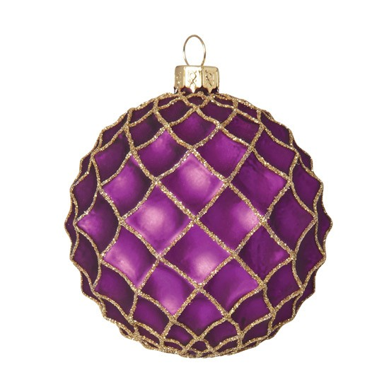 Purple waffle glass Christmas bauble by Marks & Spencer | Christmas baubles | PHOTO GALLERY | Housetohome.co.uk