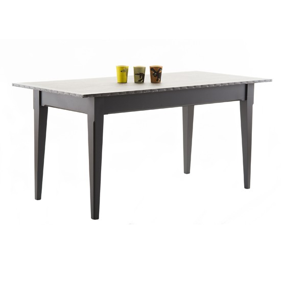 Grey Kitchen Bench: Zinc-topped Dining Table From Pedlars