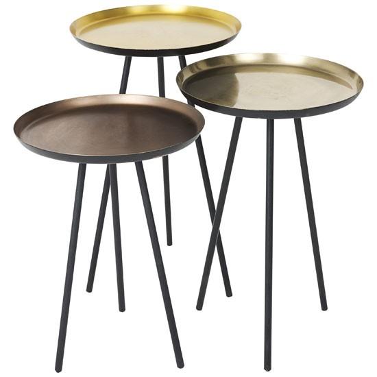 accents side tables from john lewis metallics trend. Black Bedroom Furniture Sets. Home Design Ideas