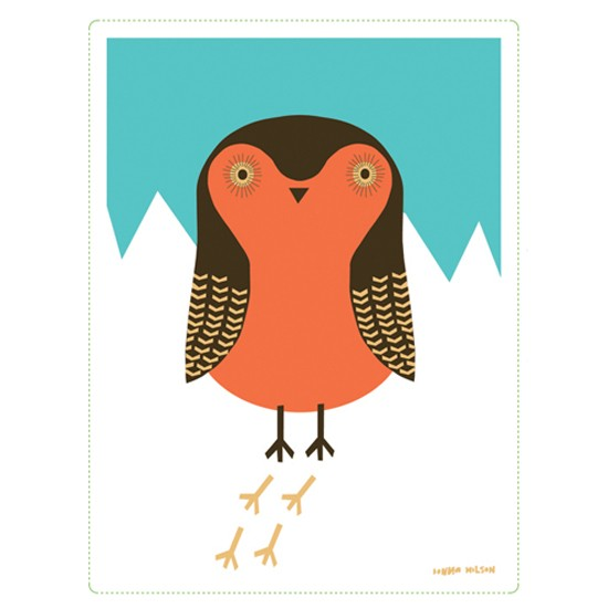 Robin in the Snow card by Donna Wilson from Design Museum | Christmas cards | Christmas ideas | PHOTO GALLERY | Housetohome