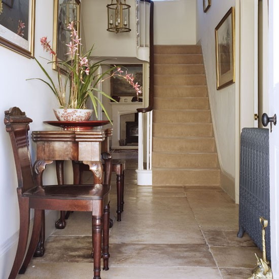 Wood and stone hallway | Traditional hallways | housetohome.