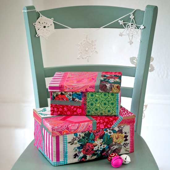 Decoupage present boxes | Homemade Christmas ideas | PHOTO GALLERY | Housetohome.co.uk