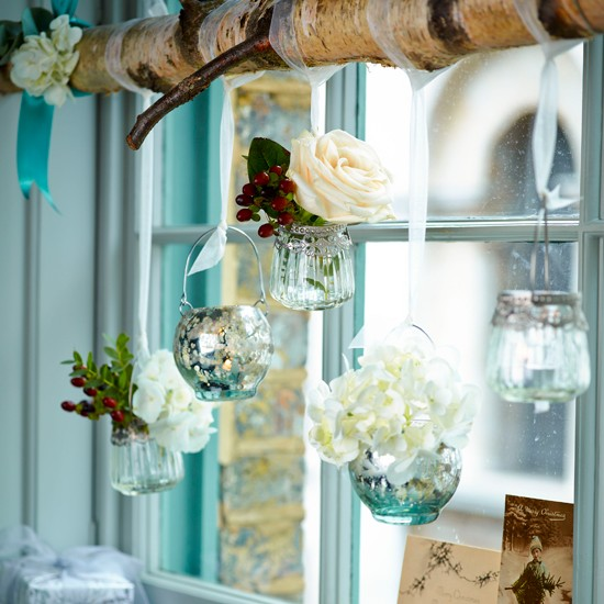 Floral window display | Homemade Christmas ideas | PHOTO GALLERY | Housetohome.co.uk