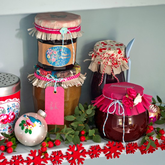 Pretty jam jar lids | Homemade Christmas ideas | PHOTO GALLERY | Housetohome.co.uk