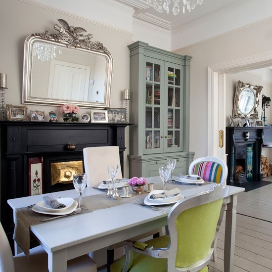 Modern French-style dining room | Eclectic dining room | dining room | Ideal Home | Housetohome