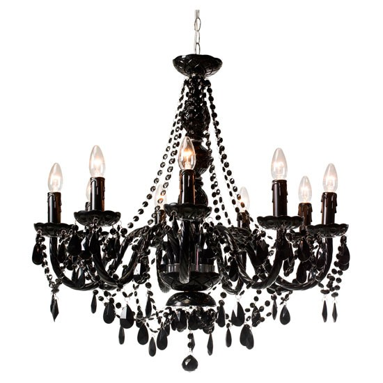jet black nine arm chandelier from heal 39 s gothic