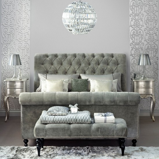 Traditional bedroom pictures house to home for Bedroom ideas silver
