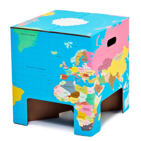 World Globe Table Stool by Little Ella James at Not On The High Street | Children's room | Children's furniture | PHOTO GALLERY | 25 Beautiful Homes | Housetohome