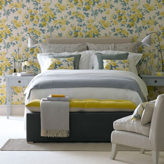 floral feature wall bedroom photo gallery ideal home