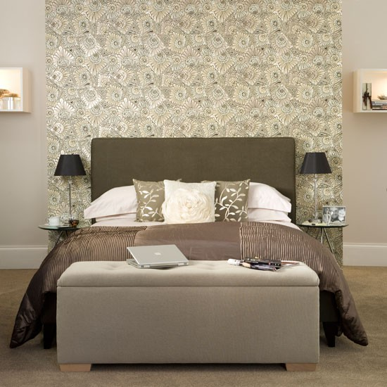 Neutral bedroom with hidden storage | Traditional bedroom ideas ...
