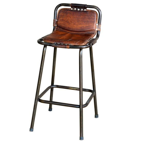 Bar stools housetohomecouk : Factory bar stool with leather seat from Andy Thornton from www.housetohome.co.uk size 550 x 550 jpeg 31kB