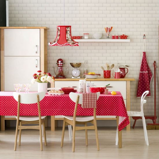Polka dot kitchen-diner | Kitchen | PHOTO GALLERY | Ideal Home | Housetohome