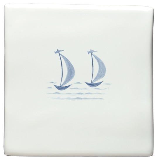 Boats tile from The Winchester Tile Company | Bathroom tiles - 10 of the best | Bathroom | PHOTO GALLERY | Country Homes and Interiors | Housetohome