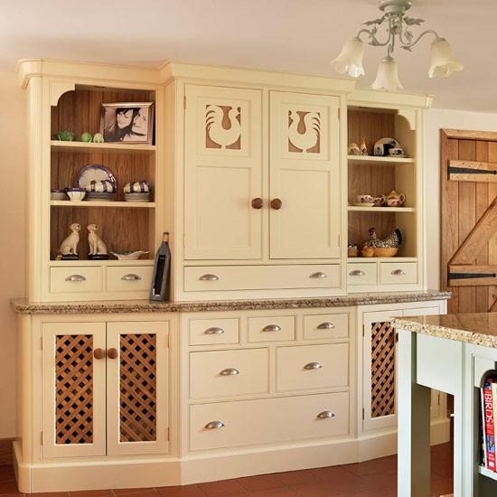 Dresser Soft Green And Cream Traditional Kitchen