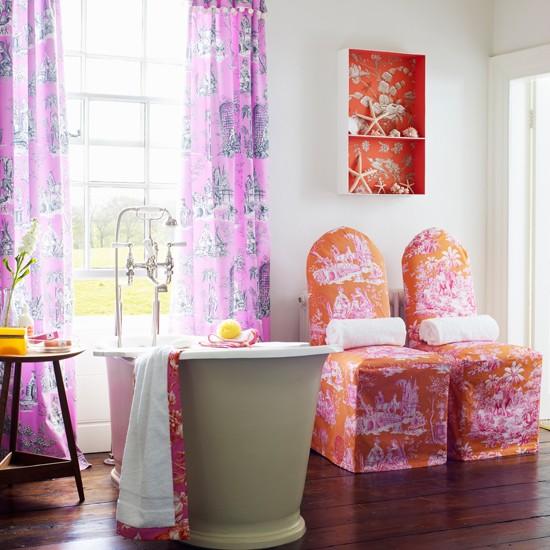 Bright pink and red bathroom bathroom decorating ideas - Refreshingly bright bathroom ideas colorful decorations ...