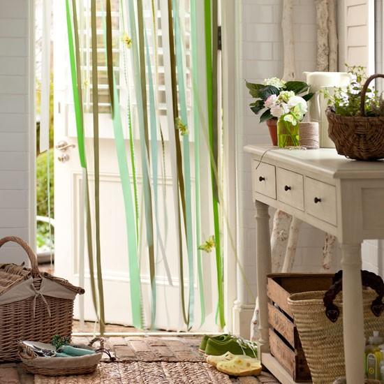 Hang A Ribbon Door Curtain Country Hallway Ideas