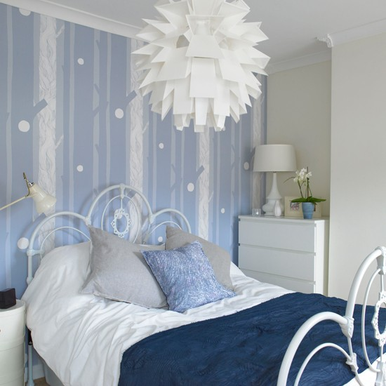 blue and white bedroom modern decorating ideas ideal home